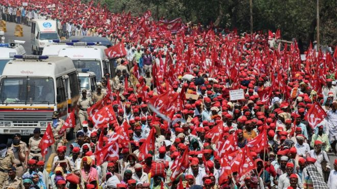 Farmers have walked for six days to reach Mumbai