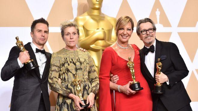 Sam Rockwell, Frances McDormand, Allison Janney e Gary Oldman