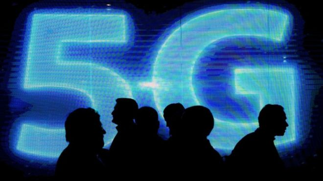 Una señal luminosa de 5G