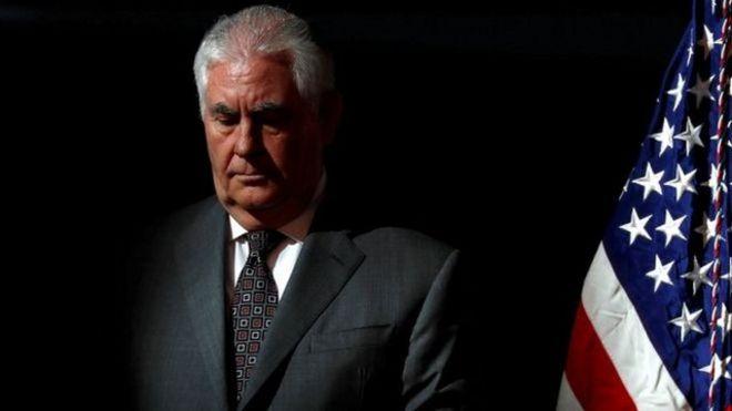 美国国务卿蒂勒森被解职。