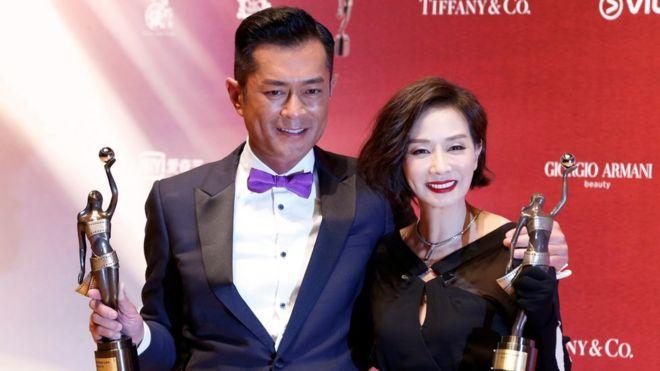 第三十七屆香港電影金像獎最佳男主角古天樂與最佳女主角毛舜筠
