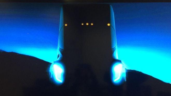 Shot of Tesla truck