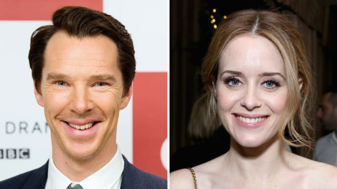 Benedict Cumberbatch and Claire Foy