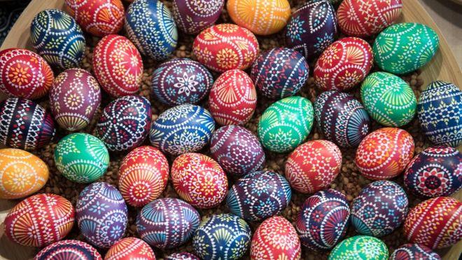 Ovos decorados para a Páscoa na Alemanha
