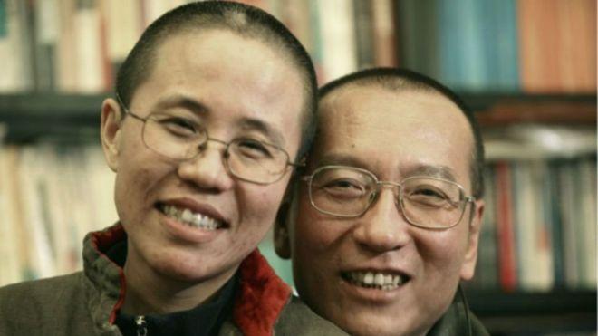 劉曉波和妻子劉霞