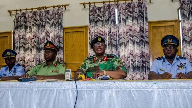 Le général Constantino Chiwenga, s'exprimait depuis le siège de l'armée à Harare.