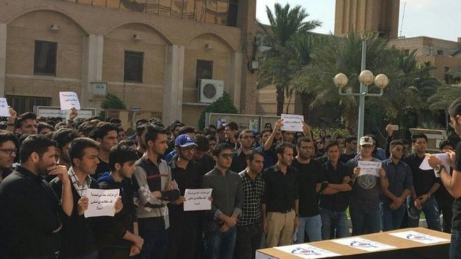 تحصن دانشجویان دانشکده نفت