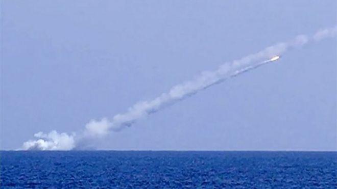 شلیک موشک کروز روسی از دریای مدیترانه به سوریه