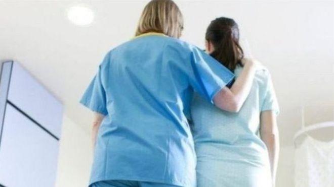Nurse with woman
