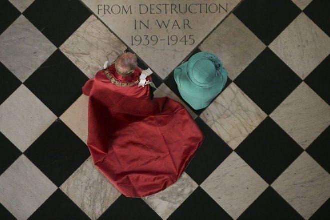 Tại lễ kỷ niệm 100 năm ngày ra đời Huân chương Bảo quốc ở Thánh đường St. Paul's năm 2017.