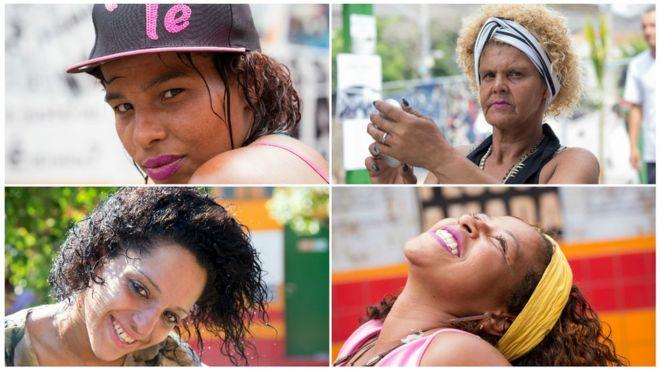 Retratos de frequentadoras da cracolândia