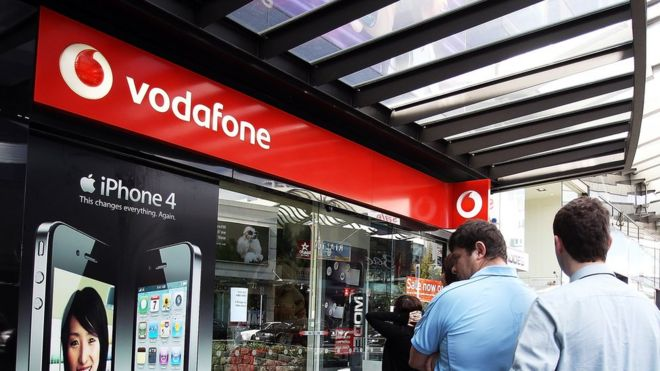 A Vodafone store in Auckland