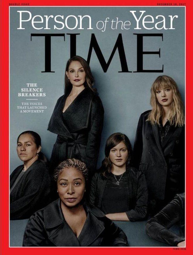 """مجله تایم چاپ آمریکا چهره سال خود را """"شکنندگان سکوت"""" لقب داد"""