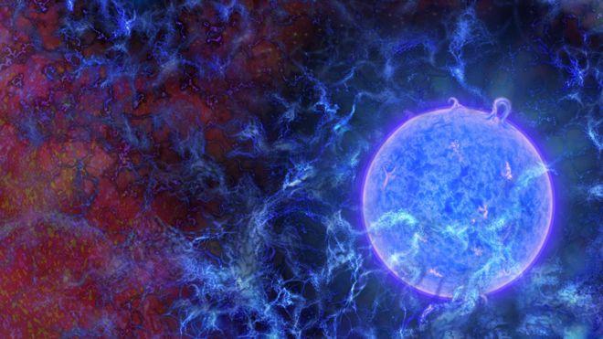 Ilustración de una estrella primitiva