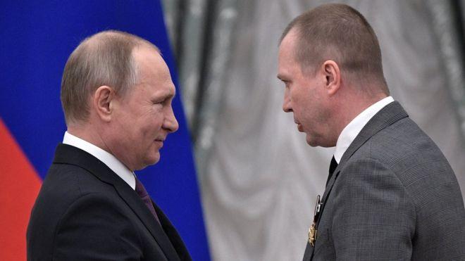 Владимир Путин и Евгений Миронов