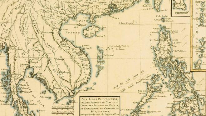 Bản đồ Bonne về Philippines xuất bản năm 1760 có cả hình các xứ sở tồn tại trên bán đảo Đông Dương vào thời điểm đó