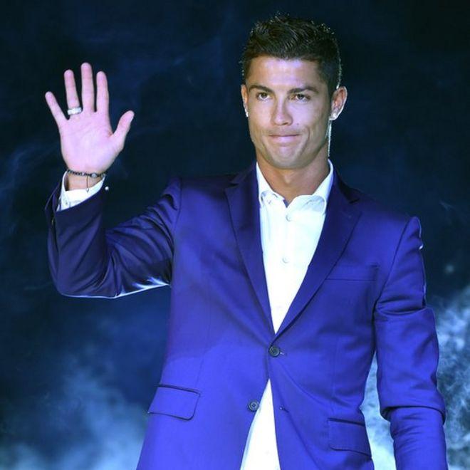 Cristiano Ronaldo en un evento promocional.