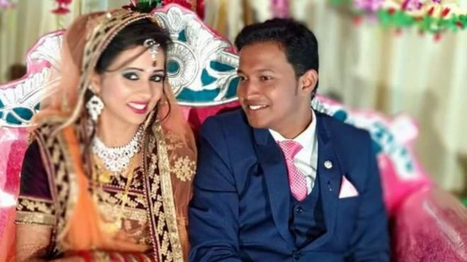 India teacher arrested over wedding bomb murder bbc news image caption the couple got married on 18 february junglespirit Images