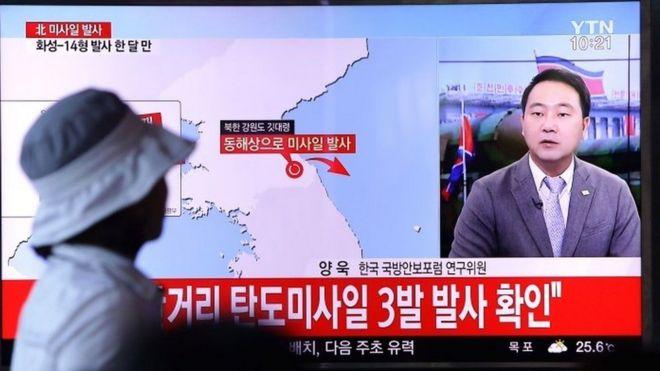 La última prueba con un misil de Corea del Norte llega dos días después de un lanzamiento similar.