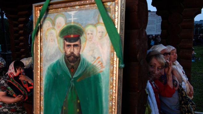 """Икона Николая II на фестивале """"Царские дни"""" в Екатеринбурге"""