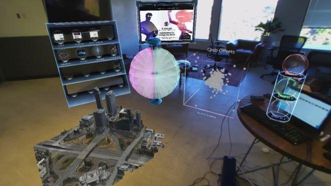 Imagen usando la gafa virtual de Meta
