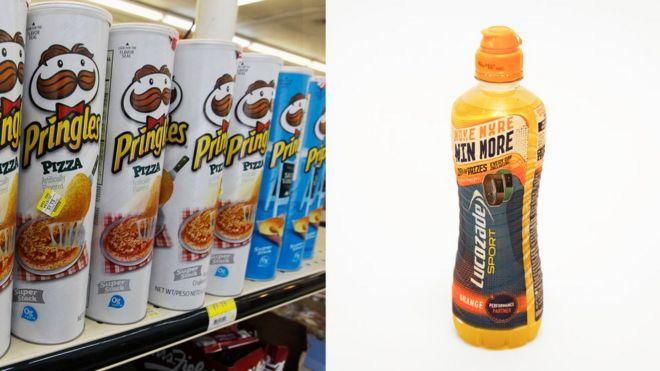 Pringles/Lucozade
