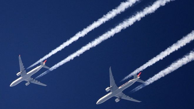 Aviation industry agrees deal to cut CO2 emissions - BBC News