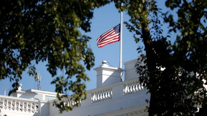 美国白宫下半旗