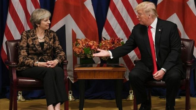 Theresa May iyo Trump