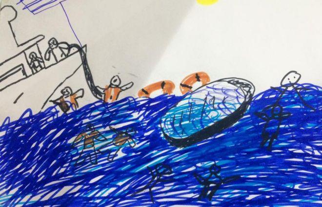 Los niños migrantes que regresan al mar en Grecia para combatir los traumas de su peligroso cruce por el Mediterráneo