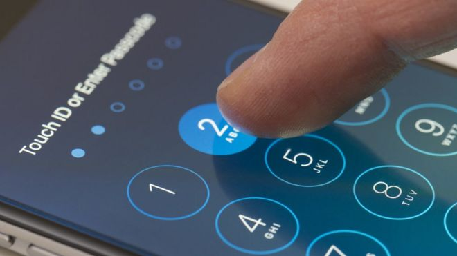 Desbloqueio de tela do celular