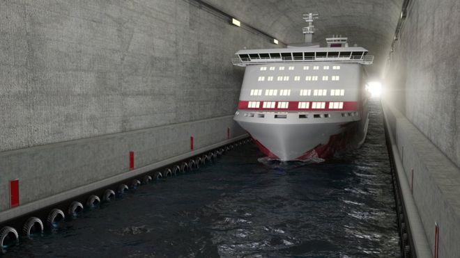 Así será el impresionante primer túnel para buques en el mundo que Noruega construirá debajo de una montaña