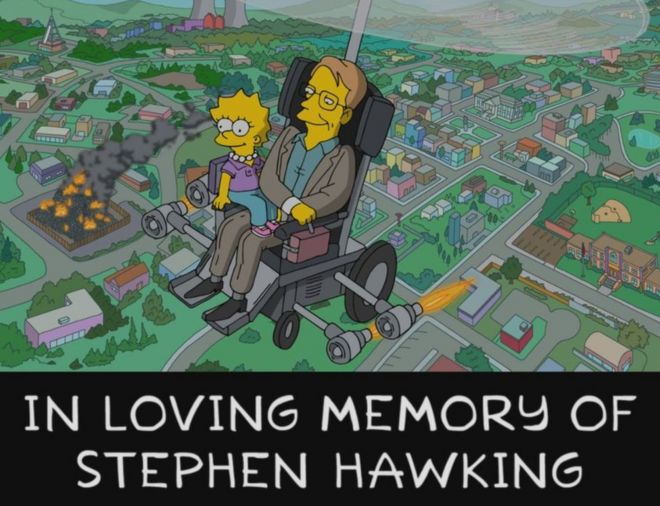 Image result for the simpsons stephen hawking