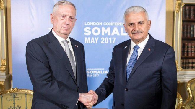 Başbakan Binali Yıldırım ile görüşen ABD Savunma Bakanı James Mattis