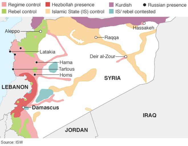 Syria The story of the conflict BBC News – Syria Map World