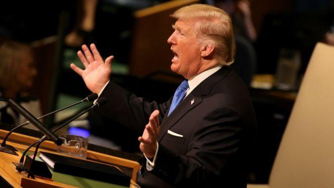 حمله شدید ترامپ به حکومت ایران در سازمان ملل