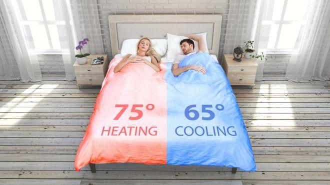 Ilustração do cobertor inteligente