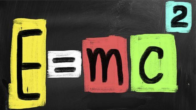 Ilustração mostra uma das equações mais famosas de Einstein
