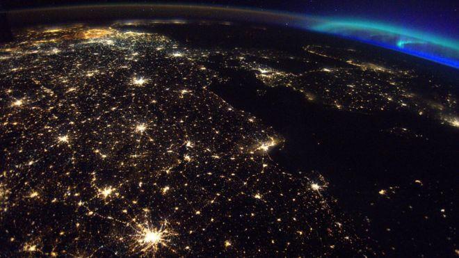 Foto desde el espacio de Europa