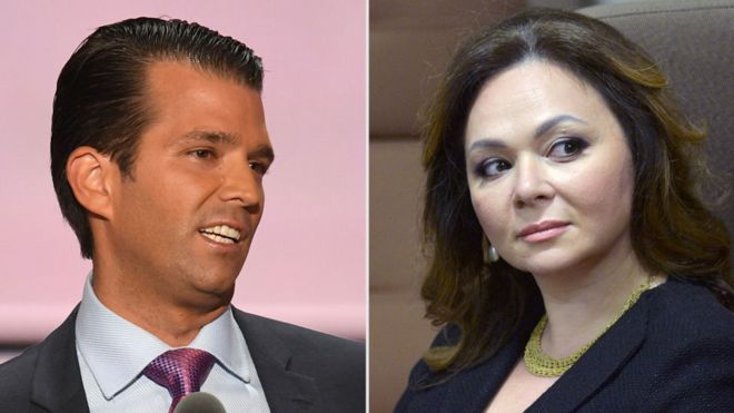 Donald Trump Jr and Natalia Veselnitskaya