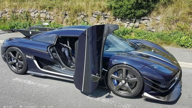Koenigsegg One Supercar Pulled Over By Police Bbc News