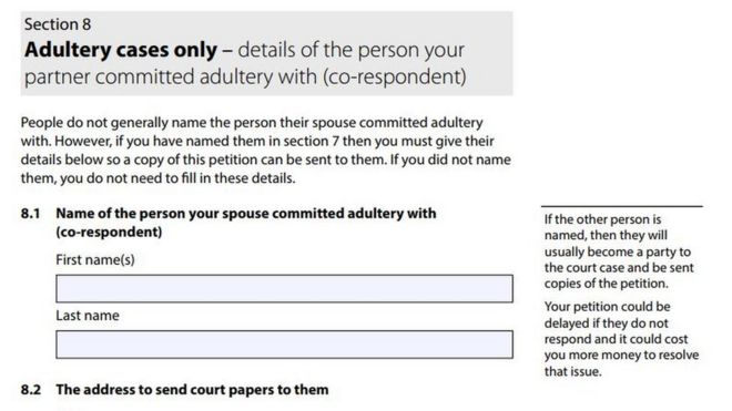New Divorce Form Invites Name And Shame Of Adulterers  Bbc News