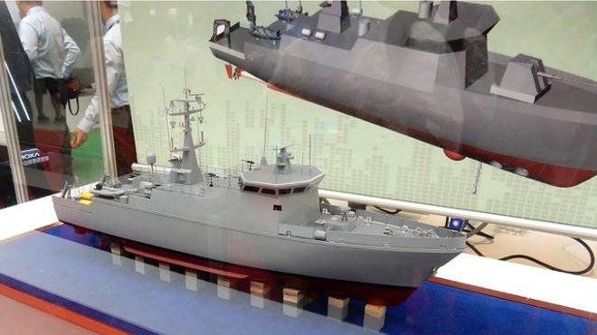 台灣海軍的第一艘新型掃雷艇(獵雷艦)原本應該在今年7月返台,但是船沒回來卻爆出承包商發生財務困難等等問題。 (VChan)