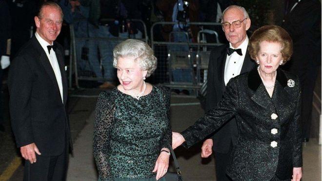 Những năm 90: kỷ niệm sinh nhật lần thứ 70 của cựu Thủ tướng Thatcher năm 1995.