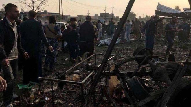 Aftermath of attack on vegetable market in Tuz Khurmatu, Iraq (21 November 2017)