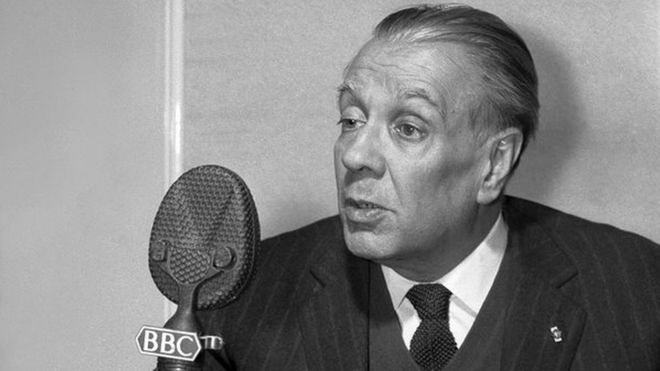 Picture shows Jorge Luis Borges, the well-known Argentine poet and writer, photographed