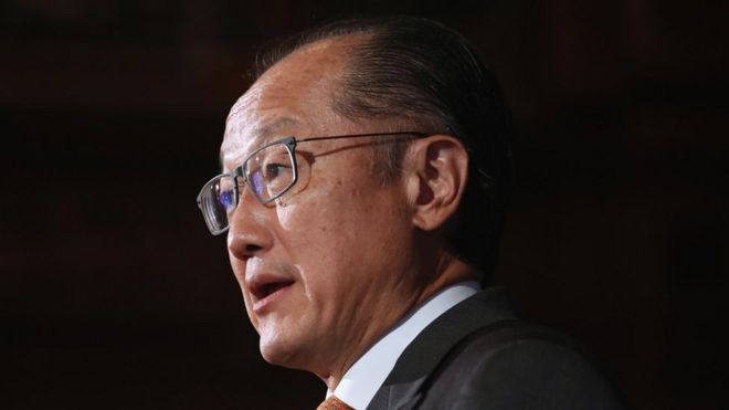"World Bank Group President Jim Yong Kim says the world is a on a ""crash course"""