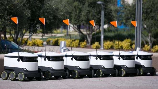 Watch out moped riders, robot company Starship Technologies plans 1,000 delivery bots !! ....
