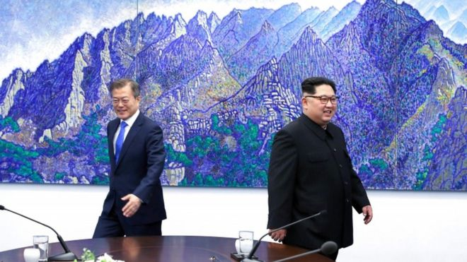 Moon Jae-in e Kim Jong-un