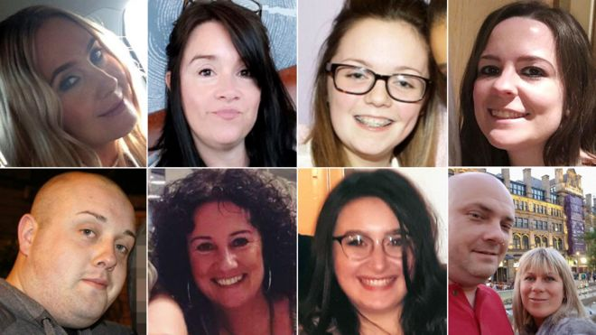 Composite picture of victims
